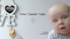 EEVA CONTEST 2015 - Children video - Ania / Dawid / Adaś - Chrzest ( Christening of a child )